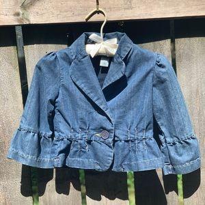 Girls mid waist jean jacket